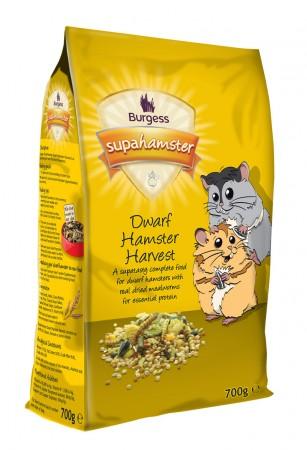 Burgess SuperHamster Dwarf Hamster Harvest 700g