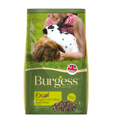 Burgess Excel Adult Rabbit Nuggets with Mint 2kg