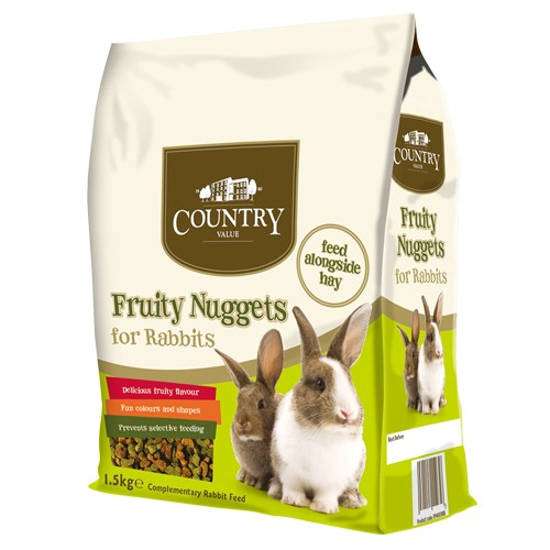 Burgess Country Value Fruity Nuggets for Rabbits 1.5kg