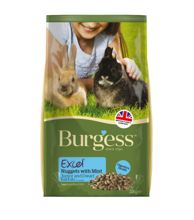 Burgess Excel Rabbit Junior Nuggets & Dwarf Nuggets 2kg
