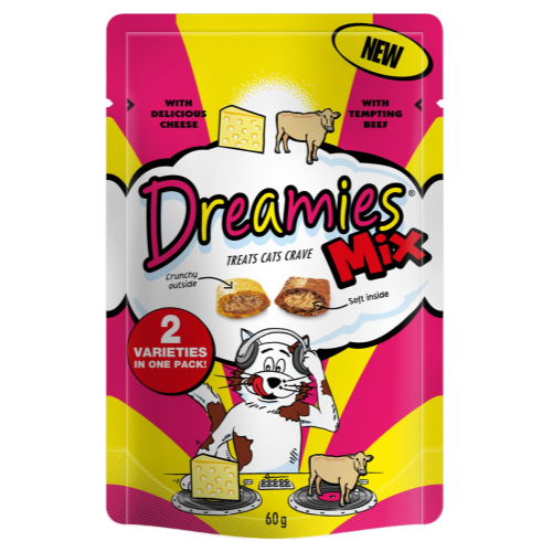 Dreamies Mixes Beef & Cheese 60g