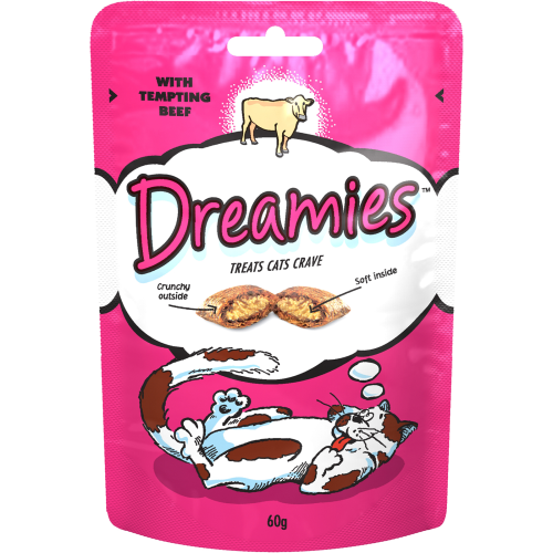 Dreamies Cat Treats Beef 60g
