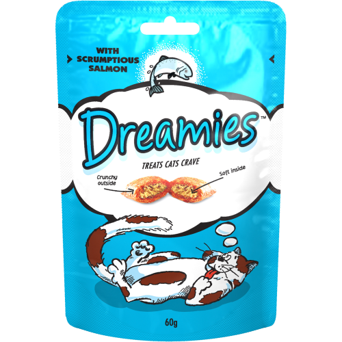Dreamies Cat Treats Salmon 60g