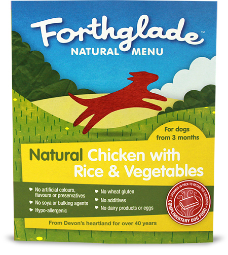 Forthglade Natural Menu chicken with rice & vegetables