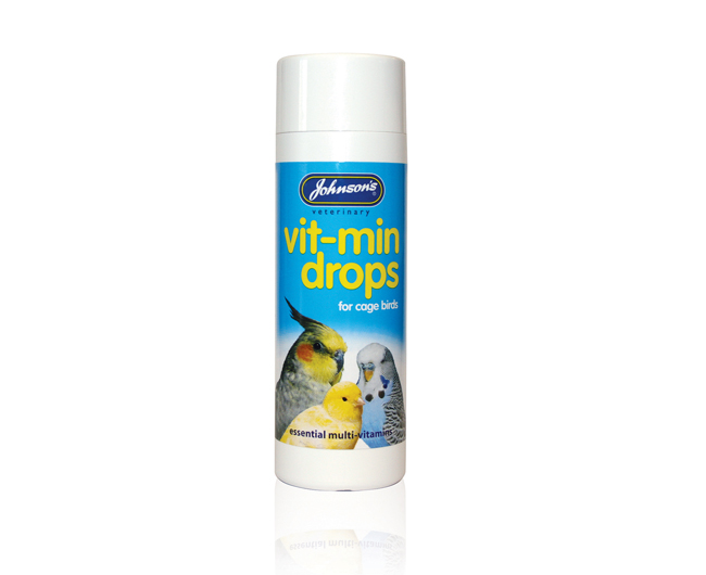 Johnsons Vit-Min Drops for all Caged Birds 100ml