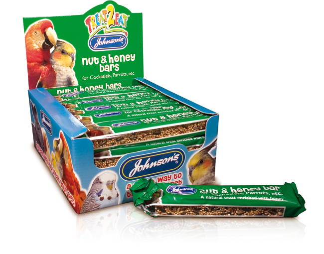 Johnsons Cockatiel & Parrot Nut & Honey Bars 24