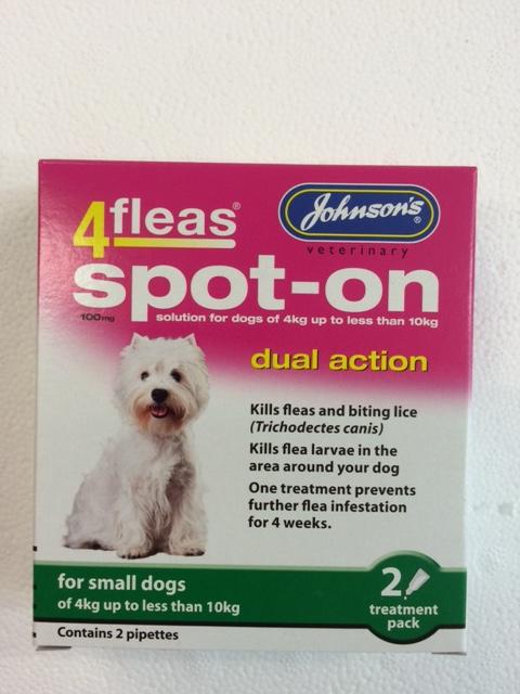 Johnsons 4Fleas Dog Dual Action Small Dog
