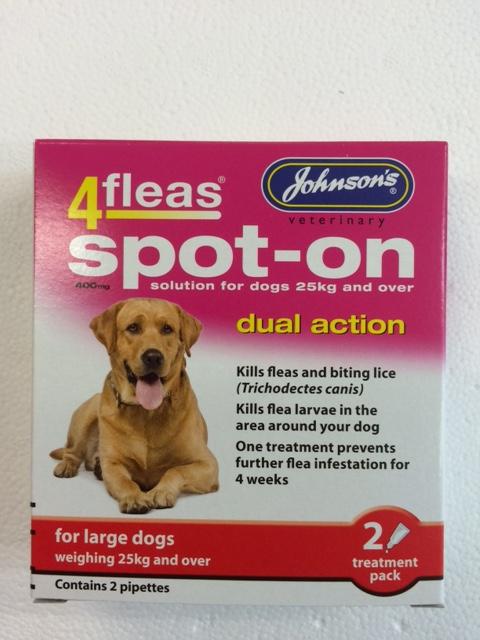 Johnsons 4Fleas Dog Dual Action Large Dog