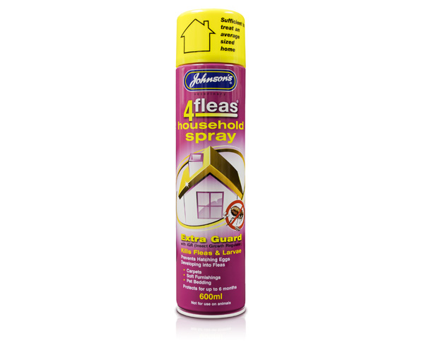 Johnsons 4Fleas Household spray – Extra Guard with IGR 600ml