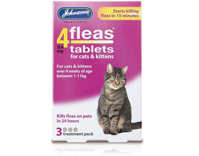 Johnsons 4Fleas Tablets – Cats & Kittens – 3 treatments