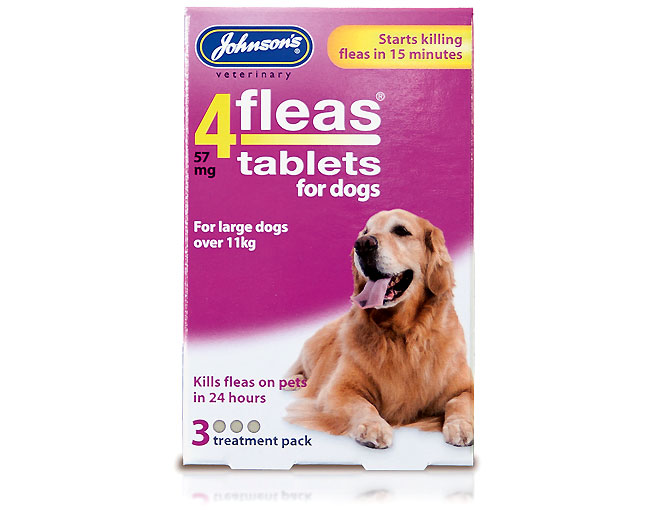 Johnsons 4Fleas Dogs over 11kg – 3 treatments