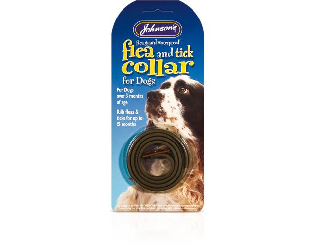 Johnsons Dog Flea & Tick Collar – standard (waterproof)
