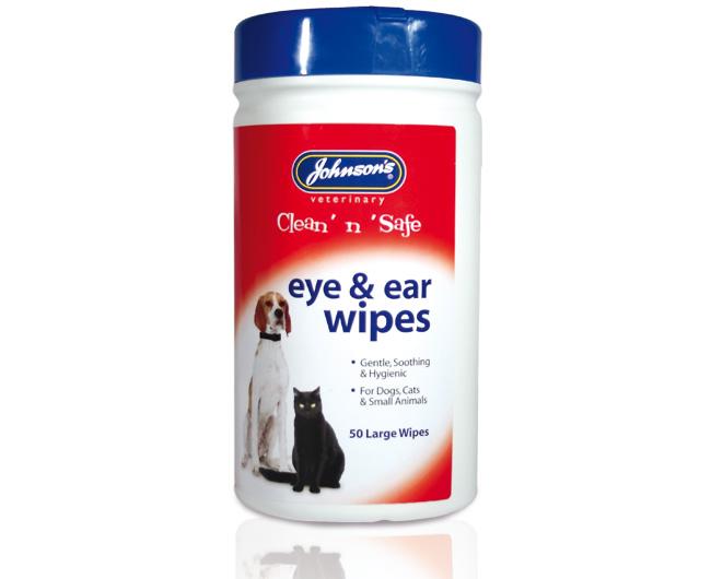 Johnsons Clean n Safe Eye & Ear Wipes 50