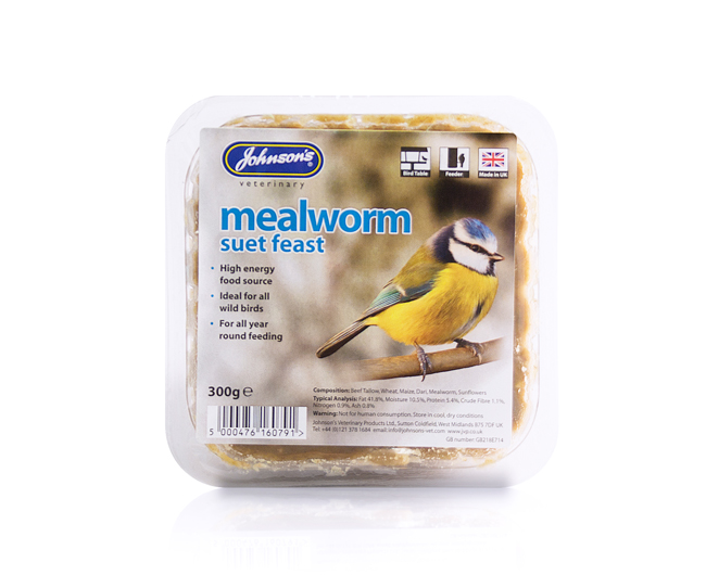 Johnsons Mealworm Suet Feast 300g