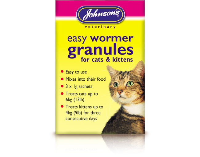 Johnsons Easy Round Wormer Granules (Cats & Kittens)