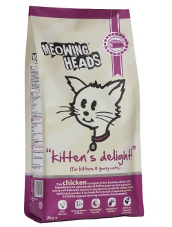 Meowing Heads Kittens Delight Chicken 250g