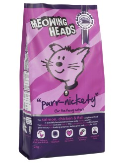 Meowing Heads Purr-Nickety Salmon, Chicken & Fish 250g