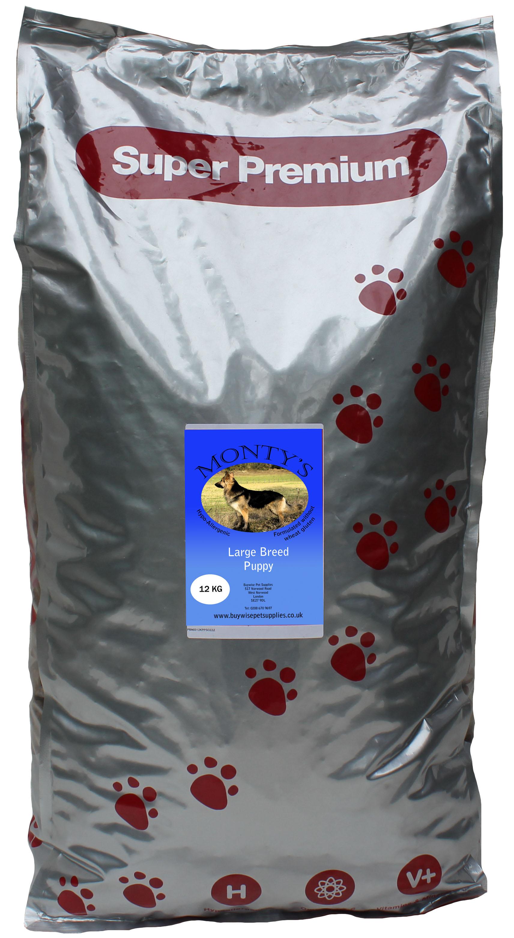 Montys Large Breed Puppy Salmon & Potato 12kg
