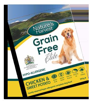 Natures Harvest Grain Free Chicken & Sweet Potato 395g
