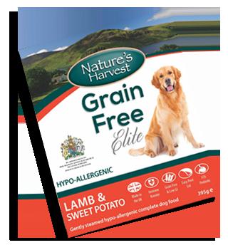 Natures Harvest Grain Free Lamb & Sweet Potato 395g