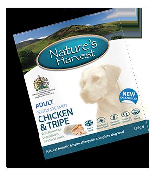 Natures Harvest Chicken & Tripe 395g